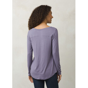 Prana Foundation LS Crew Neck Top Women Purple Mountain